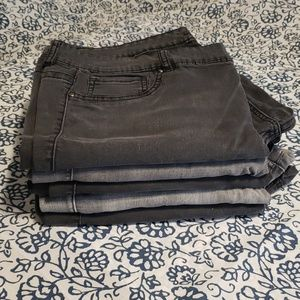 Pick your jegging black gray Maurices sz 22